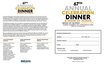 67th Annual Celebration Dinner SPONSORSHIP
