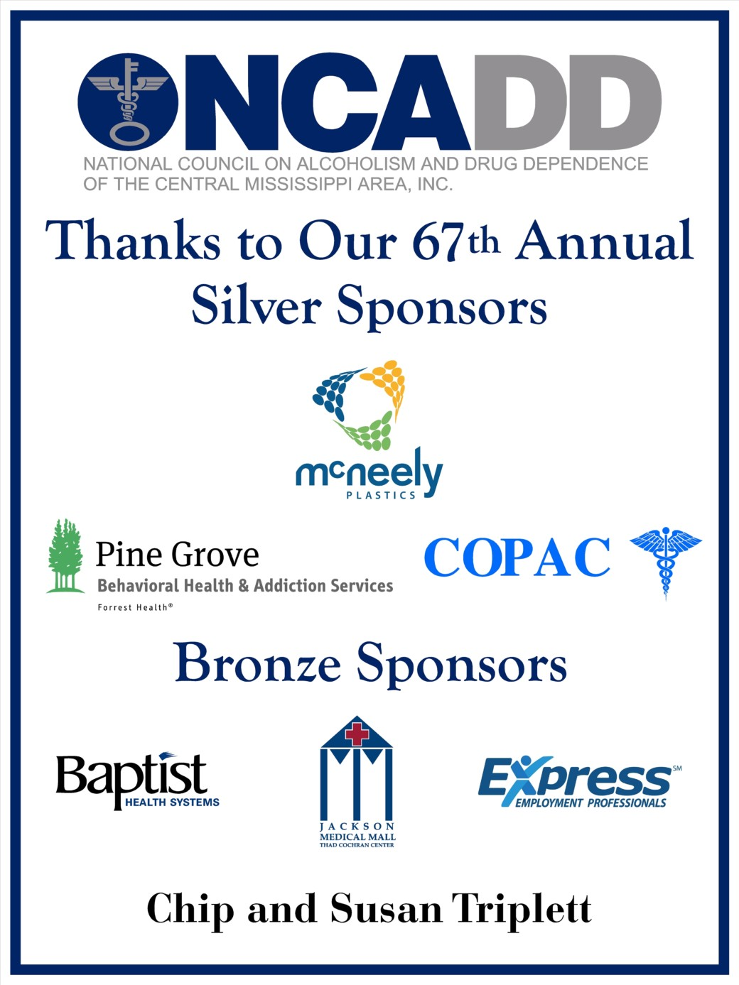 Thanks to Our 67th Annual Sponsors